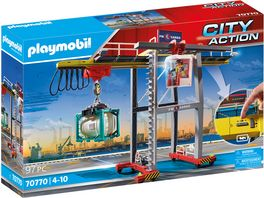 PLAYMOBIL 70770 City Action Portalkran mit Containern