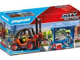 PLAYMOBIL 70772 City Action Gabelstapler mit Fracht