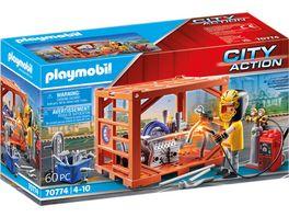 PLAYMOBIL 70774 City Action Containerfertigung