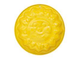 Glueckskaefer Spielzeug fuer Draussen Relief Sandform Sonne gelb
