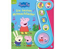 Peppa Pig Die besten Mitmachlieder Liederbuch mit Sound Pappbilderbuch mit 6 Melodien