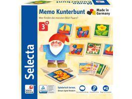 Selecta Memo Kunterbunt 36 Teile