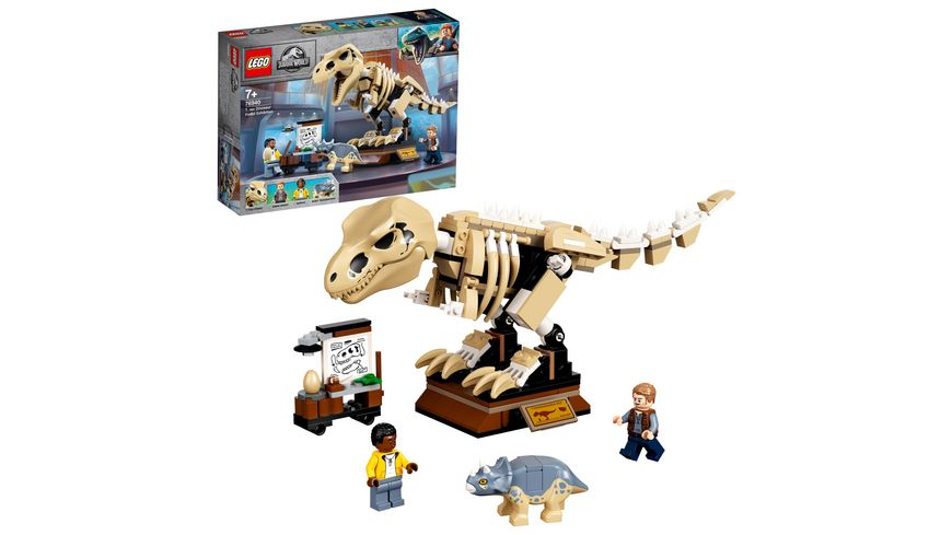 LEGO Jurassic World 76940 T. Rex-Skelett in der Fossilienausstellung