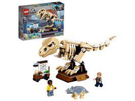LEGO Jurassic World 76940 T Rex Skelett in der Fossilienausstellung