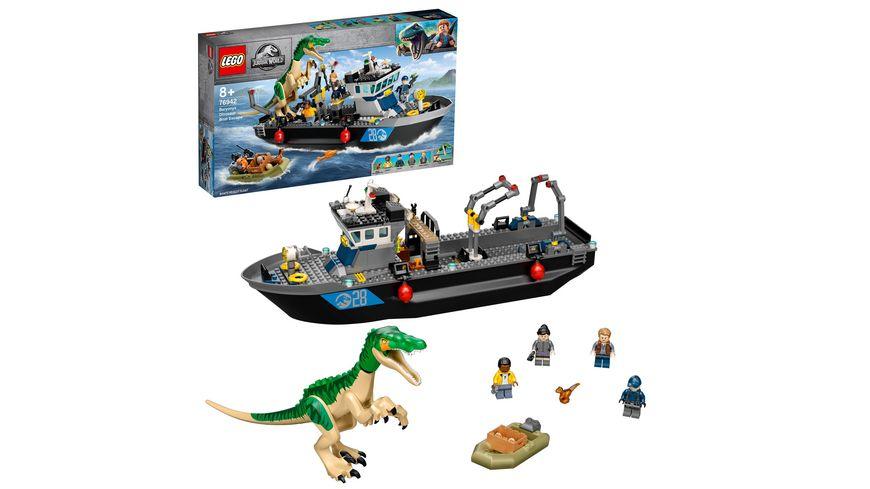LEGO Jurassic World 76942 Flucht des Baryonyx Spielzeug Dinosaurier