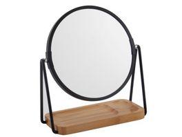 Kosmetikspiegel mit Bambus Ablage 3 fach Vergroesserung