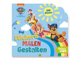PAW Patrol Stickern Malen Gestalten Mit 250 Stickern Fuer Kinder ab 3 Jahren