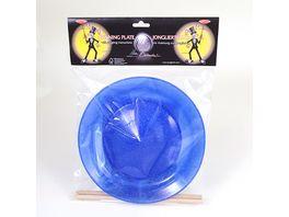 ballaballa Jonglierteller Glitter Set blau