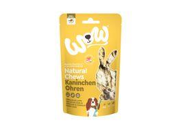 WOW Hundesnack Natural Chews Kaninchenohren