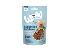 WOW Hundesnack Superfood Soft Cubes Huhn