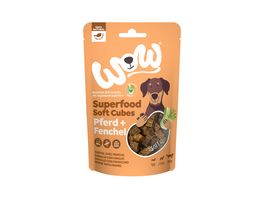 WOW Hundesnack Superfood Soft Cubes Pferd