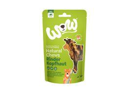 WOW Hundesnack Natural Chews Rinderkopfhaut