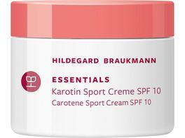 HILDEGARD BRAUKMANN ESSENTIALS Karotin Sport Creme SPF10