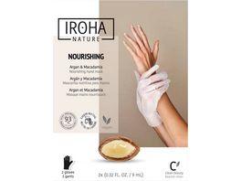 IROHA Hand Nagelmaske Nourishing Argan Macadamia
