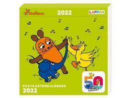 Der Kalender mit der Maus Postkartenkalender 2022
