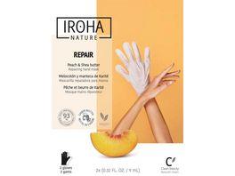 IROHA Hand Nagelmaske Repair Peach Shea butter