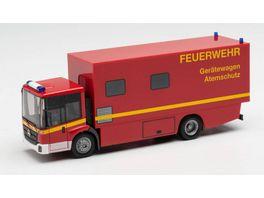 Herpa 095723 Mercedes Benz Econic Koffer LKW Feuerwehr Geraetewagen Atemschutz