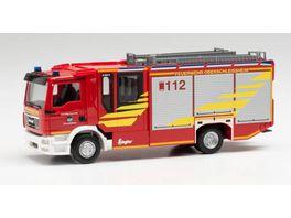 Herpa 095778 MAN TGS M Ziegler Z Cab HLF 20 Loeschfahrzeug Feuerwehr Oberschleissheim