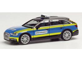 Herpa 095860 Audi A6 Avant Polizei Versuchsfahrzeug