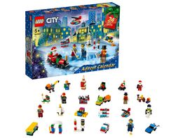 LEGO City 60303 Adventskalender Weihnachtsspielzeug fuer Kinder Geschenk