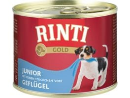 RINTI Hundenassfutter Gold Junior Gefluegel