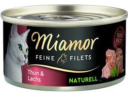 Miamor Katzennassfutter Feine Filets Naturell Thun Lachs
