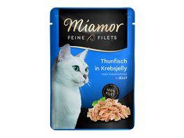 Miamor Katzennassfutter Feine Filets in Jelly Thunfisch in Krebsjelly