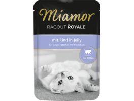 Miamor Katzennassfutter Ragout Royale Kitten mit Rind