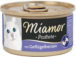 Miamor Katzensnack Pastete Gefluegelherzen