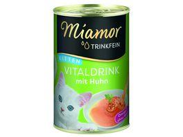 Miamor Katzensnack Trinkfein Vitaldrink Kitten mit Huhn