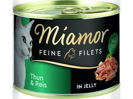 Miamor Katzennassfutter Feine Filets in Jelly Thun Reis