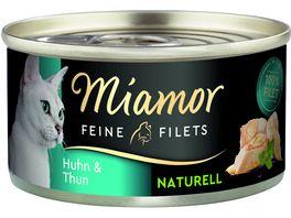 Miamor Katzennassfutter Feine Filets Naturell Huhn Thun