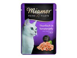 Miamor Katzennassfutter Feine Filets in Jelly Thunfisch in Tomatenjelly