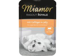Miamor Katzennassfutter Ragout Royale Kitten mit Gefluegel