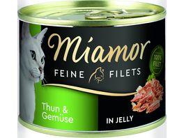 Miamor Katzennassfutter Feine Filets in Jelly Thun Gemuese
