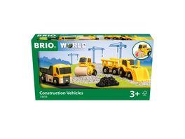 BRIO Bahn 33658 Baustellenfahrzeuge Ergaenzung fuer die BRIO Holzeisenbahn