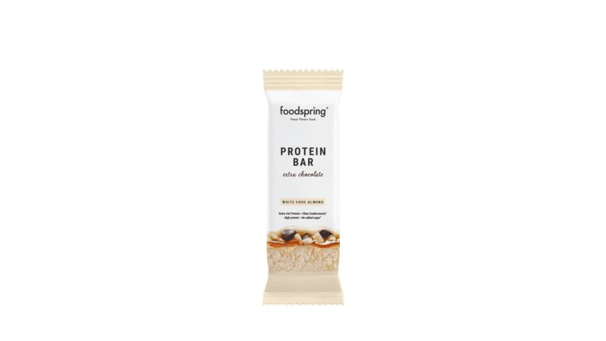Foodspring Protein Bar Extra Chocolate White Chocolate Almond