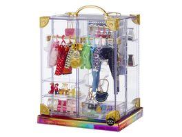 Rainbow High Kleiderschrank Playset mit 20 Modestuecken