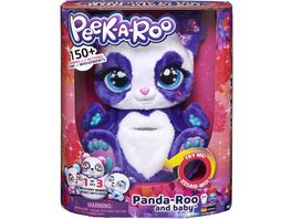 Spin Master Peek a Roo Mama Panda und Baby Plueschtier mit interaktivem Beutel