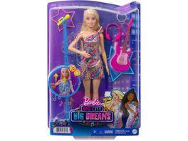 Barbie Buehne Frei fuer grosse Traeume Malibu Saengerin Puppe mit leuchtendem Kleid und Musik inkl Zubehoer