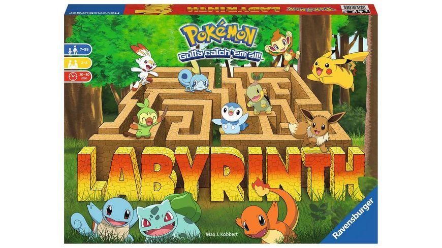 Ravensburger Spiel - Pokémon Labyrinth - Familienspiel für 2-4 Spieler ab 7 Jahren