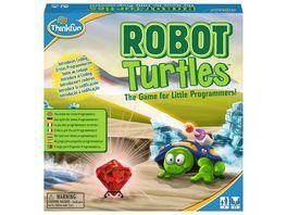 Thinkfun Robot Turtles ein Kinderspiel bei dem Kinder ab 4 Jahre mit Spass und spielerisch erstes Programmieren lernen