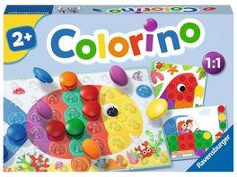 Ravensburger Spiel Colorino Kinderspiel zum Farbenlernen Mosaik Steckspiel Spielzeug ab 2 Jahre