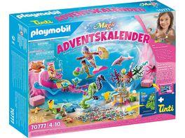 PLAYMOBIL Adventskalender 70777 Badespass Meerjungfrauen