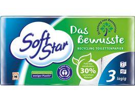 SoftStar Das Bewusste Recycling Toilettenpapier 8x200 Blatt 3 lagig