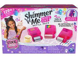Spin Master Cool Maker Shimmer Me Tattoo Nachfuell Set 120 Aufkleber 3 Metallicfolien und Gli