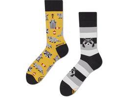MANY MORNINGS Unisex Socken Raccoon Bandit