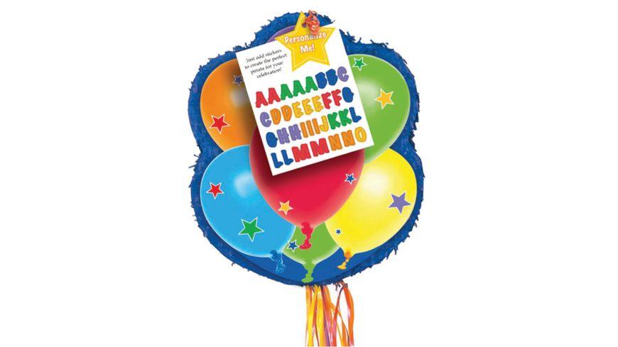 Amscan - Pull Pinata Balloons Personalizable Paper / Plastic 43.8 x 53.3 x 7.6 cm