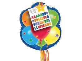 Amscan Pull Pinata Balloons Personalizable Paper Plastic 43 8 x 53 3 x 7 6 cm