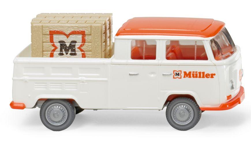 """WIKING 831401 - VW T2 Doppelkabine """"Müller"""""""